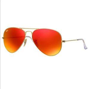 Ray-Ban AVIATOR LARGE METAL - Gold/Orange Flash